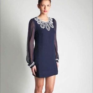 [French Connection] Beaded Bex Dress Navy